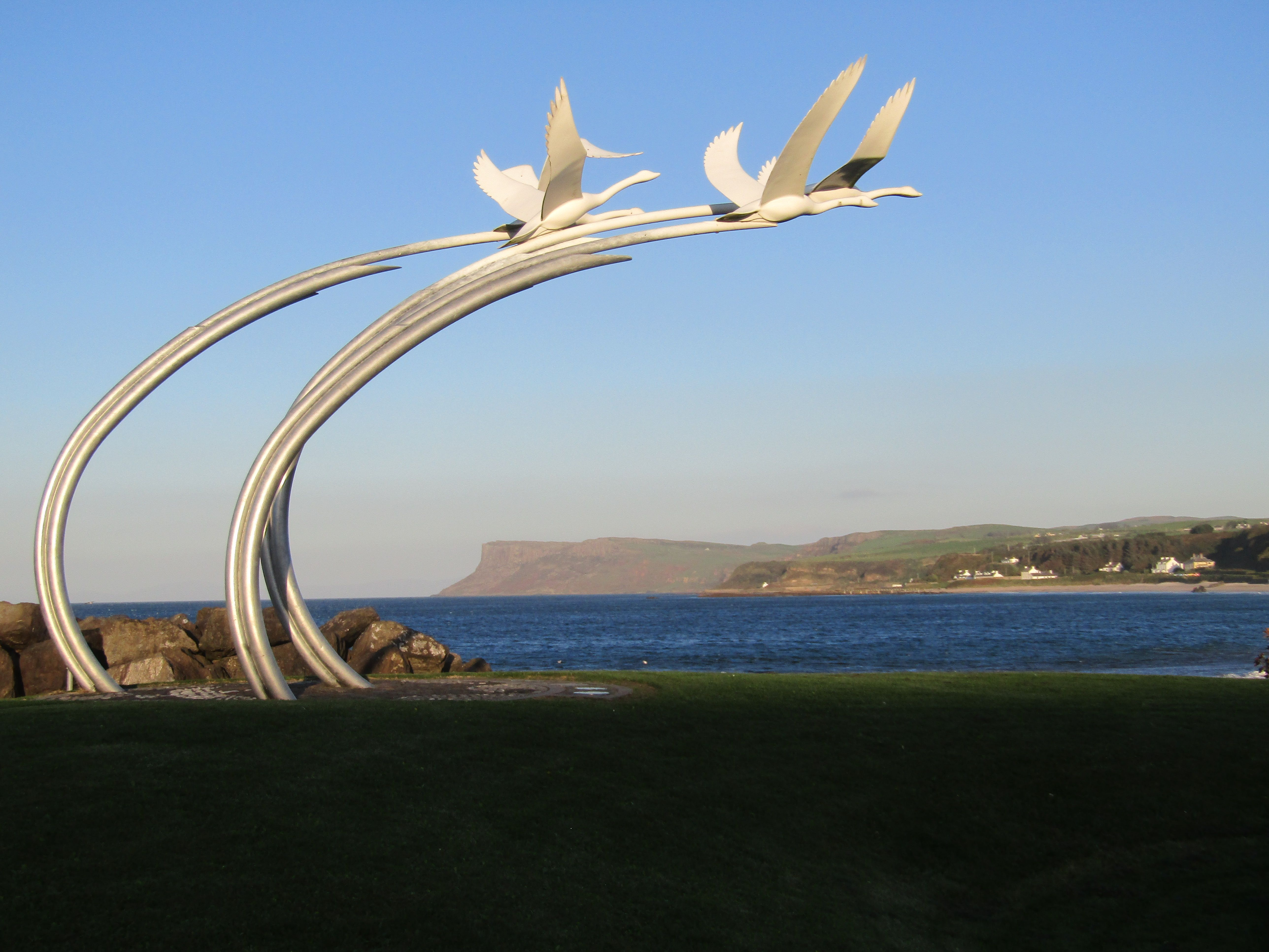 Ballycastle The Children Of Lir And Fair Head Favorite Places Sydney Opera House Northern Ireland