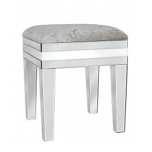 Mica Home White Midtown Modern Bedroom Furniture Vanity Dressing Table Stool