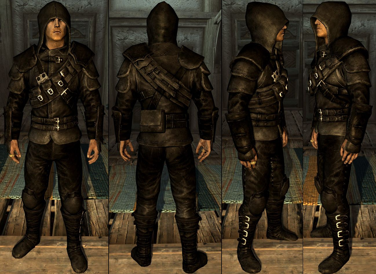Black leather gloves skyrim - Skyrim Thieves Guild Armor Google Search