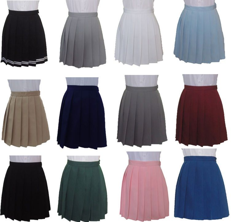 Cheap high waist pleated skirt, Buy Quality solid color skirt directly from  China female skirts Suppliers: Harajuku JK Summer Skirts 2017 Women High  Waist ...