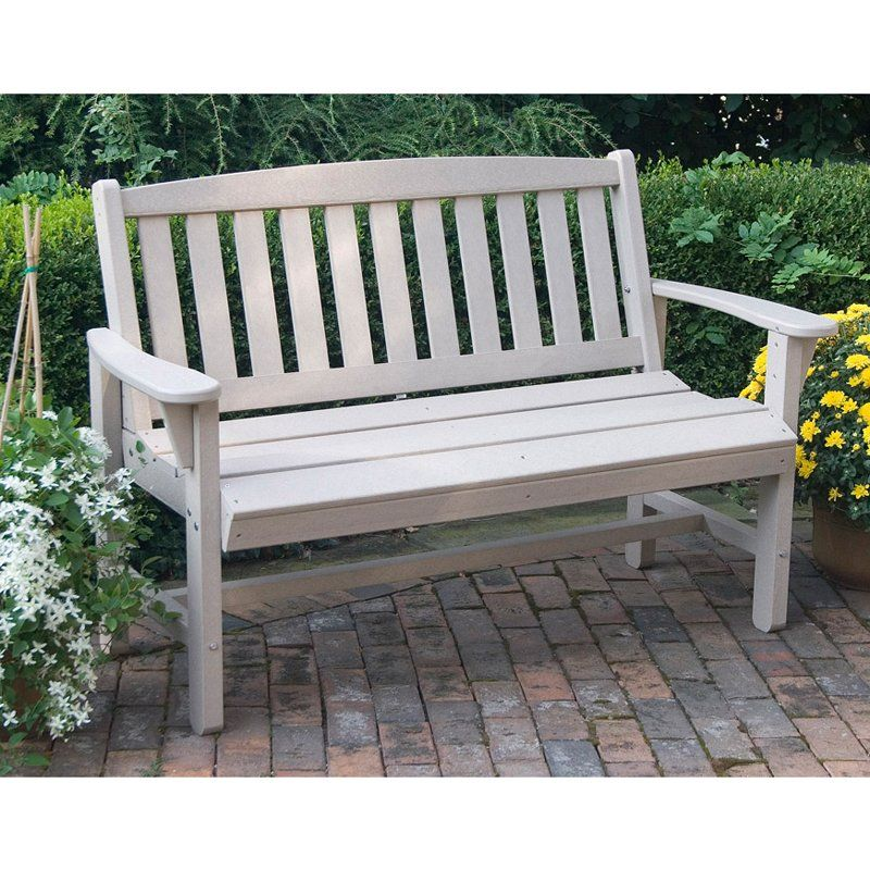 Great American Woodies Lifestyle Recycled Plastic Mission Bench ...