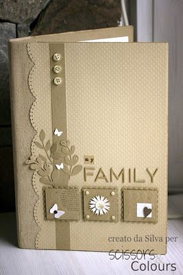 monochromatic browns...clean design...cute decorated inchies...album cover that could be a lovely card face...