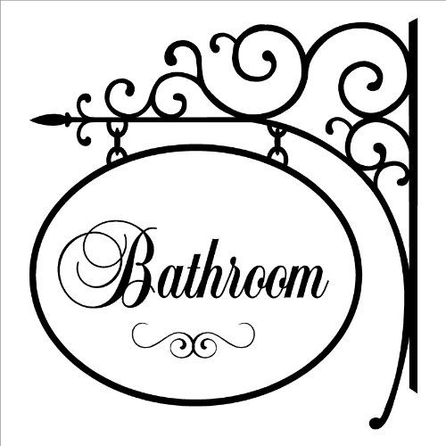 Awesome Websites Bathroom Hang Sign wall saying vinyl lettering home decor decal stickers quotes Wall Sayings Vinyl Lettering