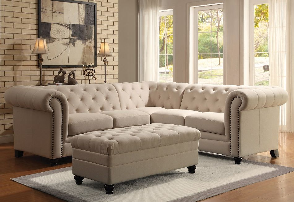 Tremendous Roy Collection 500222 Sectional Sofa Living Room Tufted Evergreenethics Interior Chair Design Evergreenethicsorg