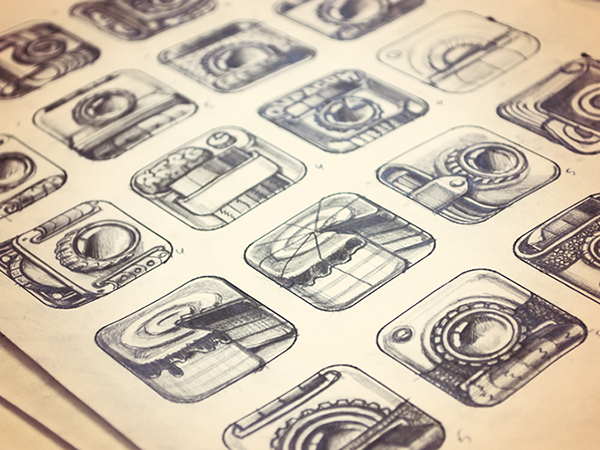 App Icon Sketches by Ramotion Inc., via Behance