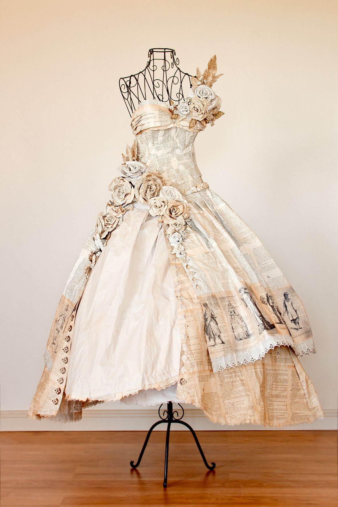 So I Made This Dress Entirely Out Of Book Pages For A Local Art Compeion Didn T Win Anything