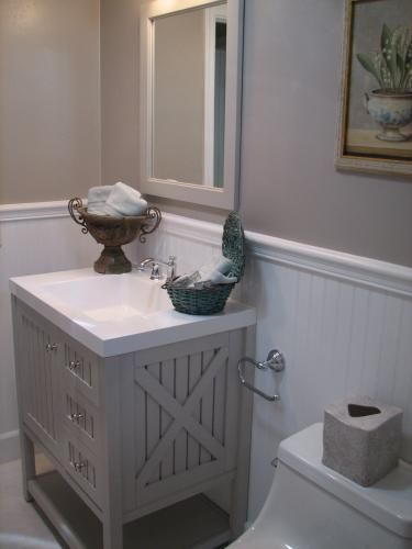 Martha Living Seal Harbor 30 In Vanity Sharkey Gray With Top Alpine White Sl30p2com Sg At The Home Depot