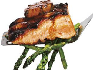 Grilled salmon with red wine butter recipe mens health magazine grilled salmon with red wine butter recipe mens health magazine forumfinder Image collections