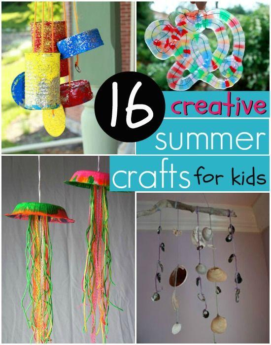 Creative & Easy Summer Crafts for Kids | Summer crafts ...