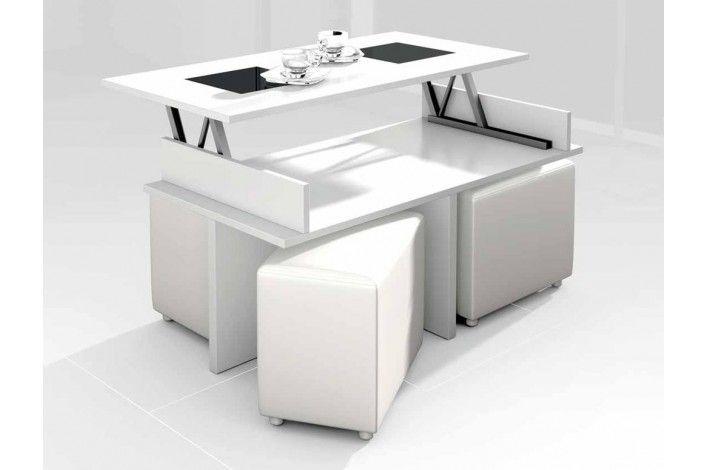 Mesa centro elevable + 4 puff - Merkamueble | mesas | Pinterest ...