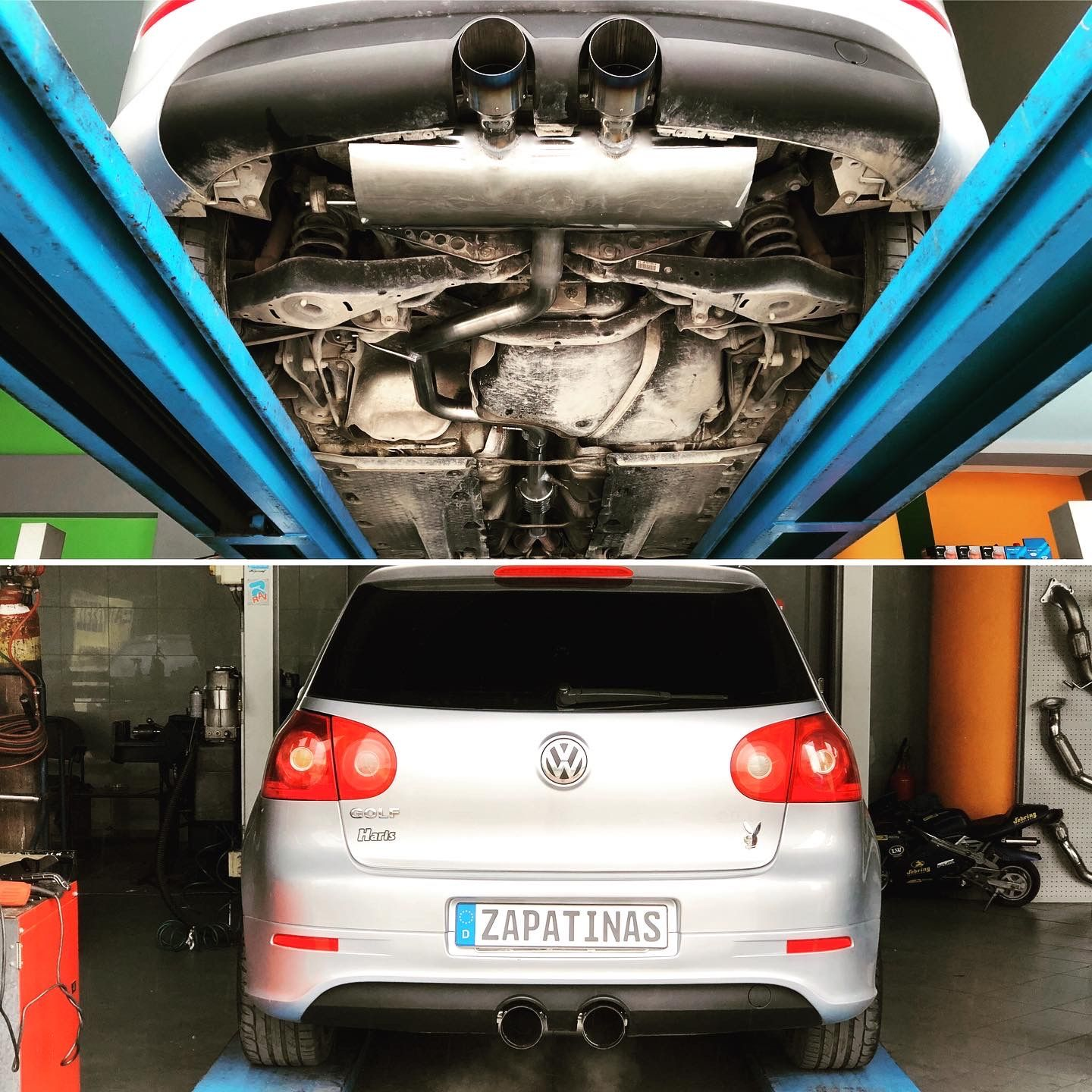 exhaust system for vw golf look r32