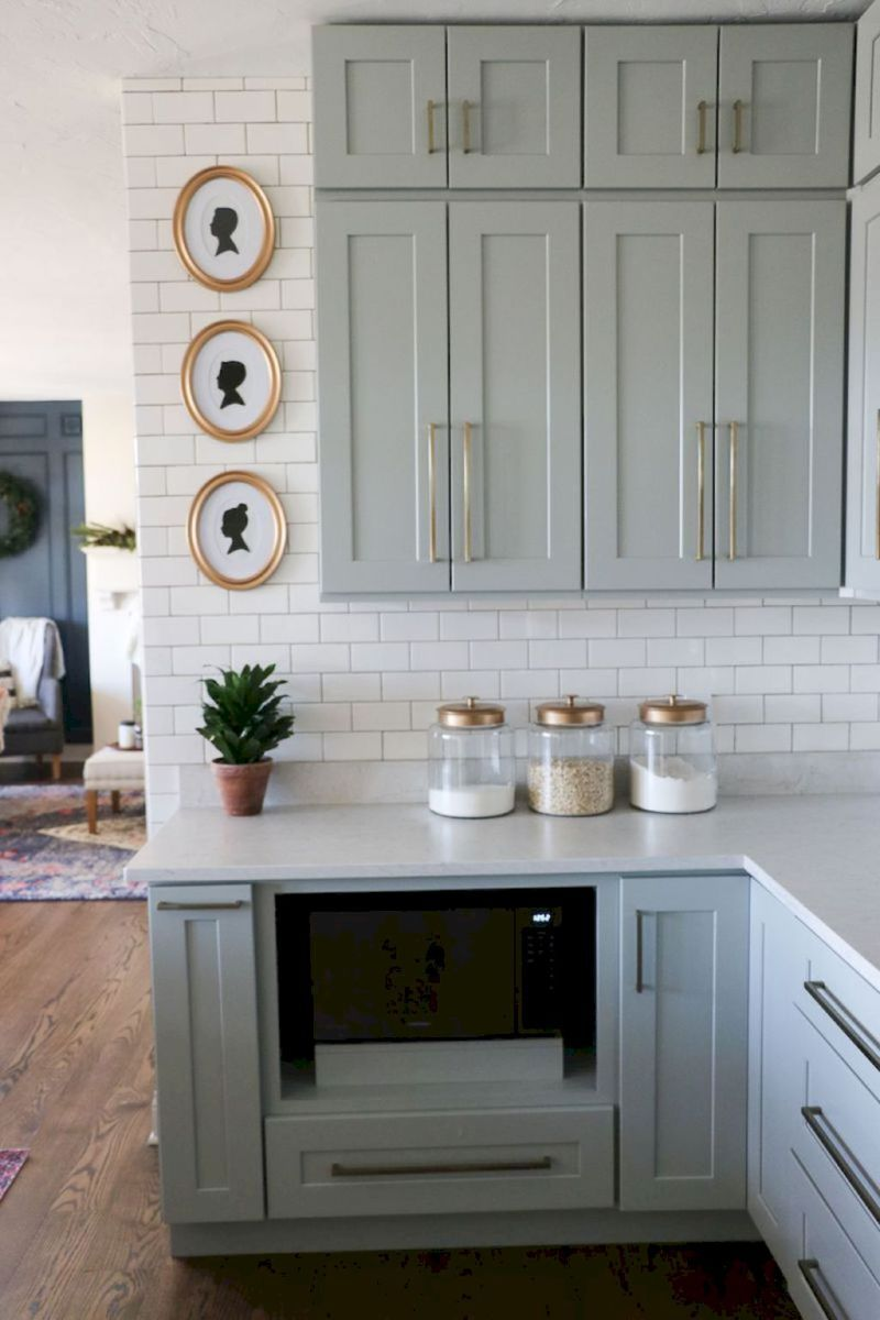 53 Farmhouse Gray Kitchen Cabinet Design Ideas Kitchen Kuchen