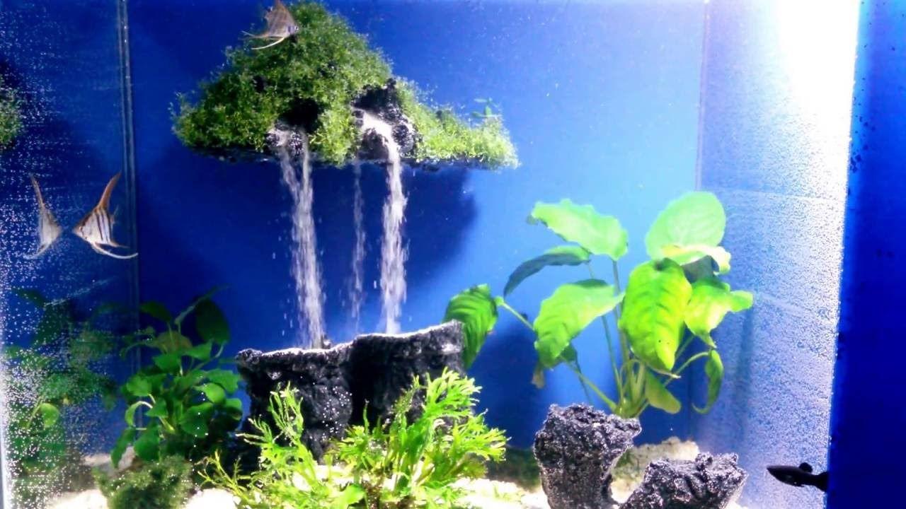 Aquarium sand waterfall 17 - Mysterious island ...