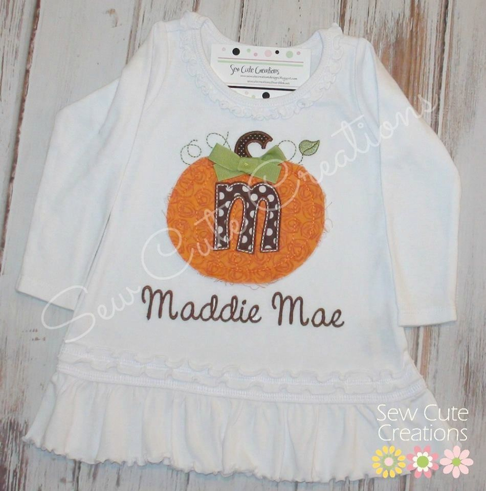 Halloween Pumpkin dress - Pumpkin Patch dress - Pumpkin patch outfit - Fall pumpkin dress - Thanksgiving outfit - sew cute creations #pumpkinpatchoutfit