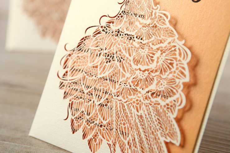 Laser cut wedding invitation for a civil wedding | itakeyou.co.uk