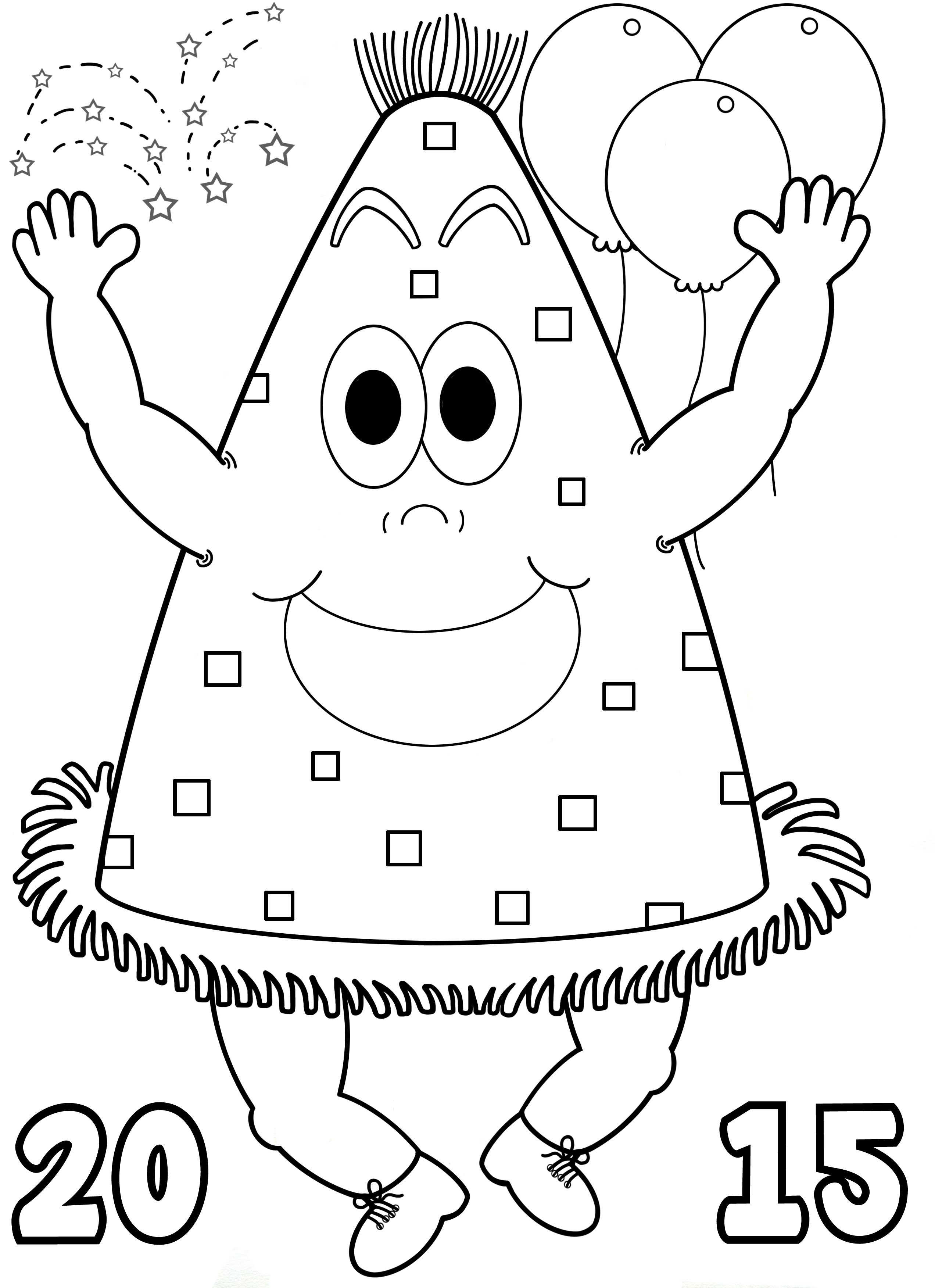 Happy New Year Enjoy This Free Printable Party Hat Coloring Page