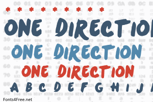 One Direction Font One Direction Lettering Directions