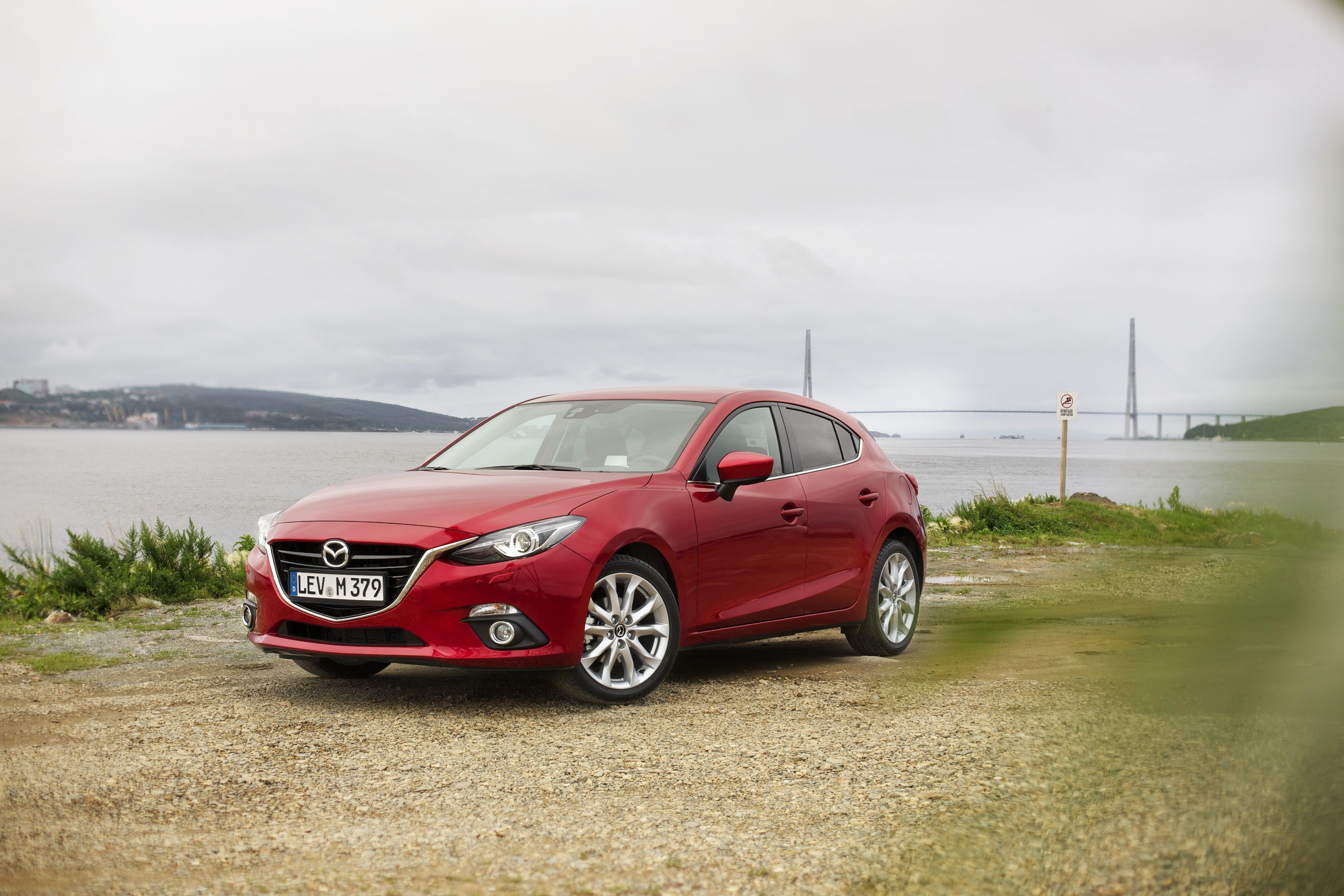 The All New Mazda3 At The Waterside Of Vladivostok Mazdaroute3