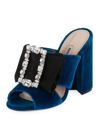 3db55bcd978 Crystal-Buckle+Velvet+Mule+Sandal
