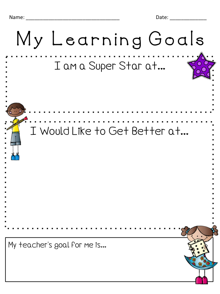 Worksheets Setting Goals For Students Worksheet its september new teachers pinterest my goals graphic free goal setting worksheets love these for conferences