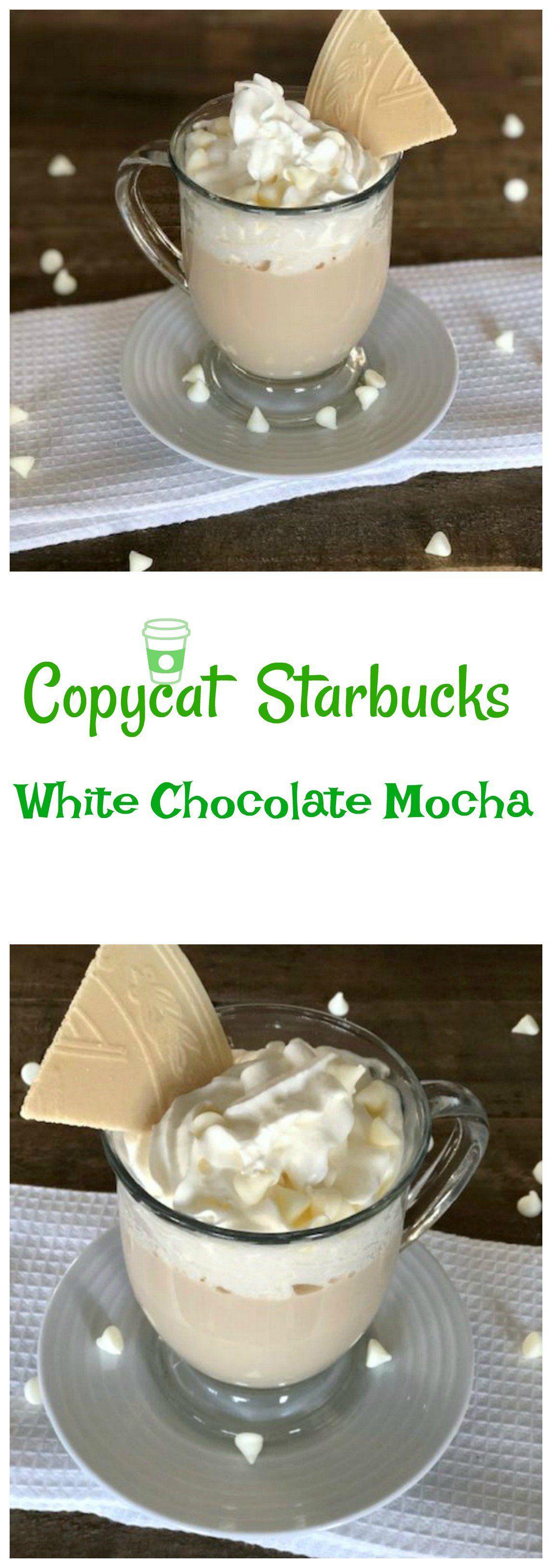 Copycat starbucks white chocolate mocha recipe