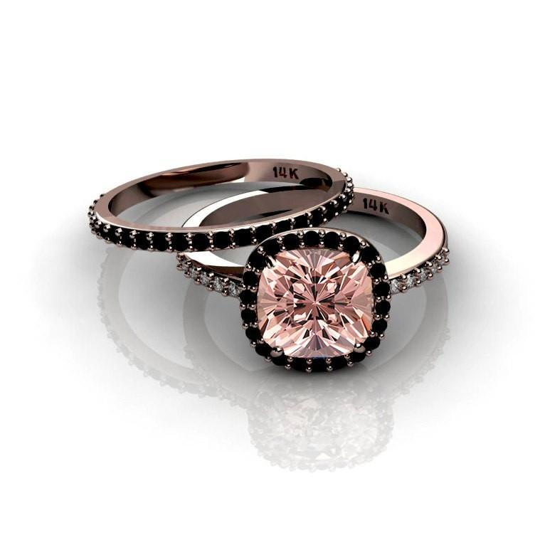 31++ Pink morganite rose gold wedding set ideas