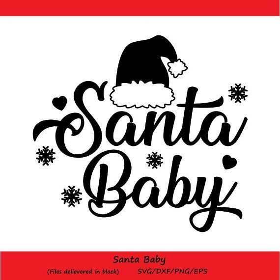 View Santa Baby / Svg Png Dxf Crafter Files