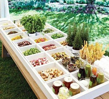 Wedding Gourmet Hamburger Bar Buffet Frugal Ideas