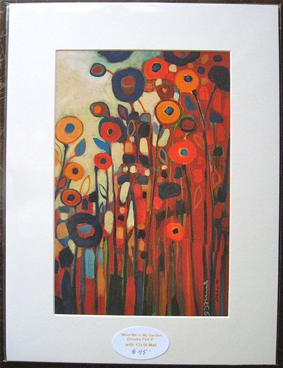 Floral Abstract Garden Dreams 2 Fine Art Print by by jenlo262