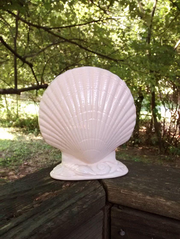 Ceramic shell vase vintage japan mikasa clamshell vase or ceramic shell vase vintage japan mikasa clamshell vase or toothbrush holder seashell decor vintage beach decor reviewsmspy