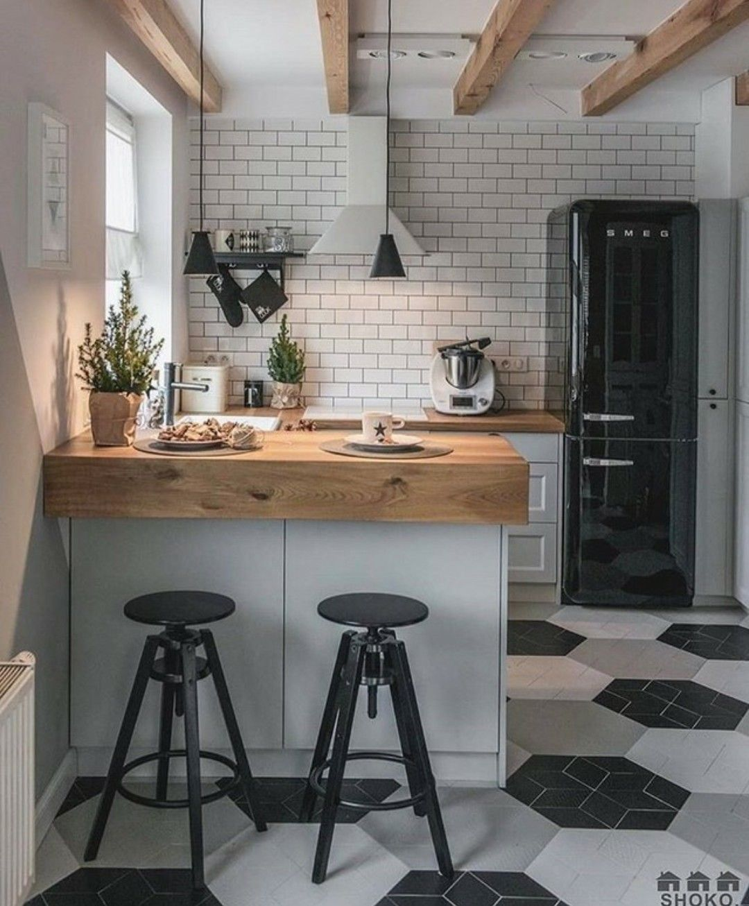 Simple country modern. | Kitchen design small