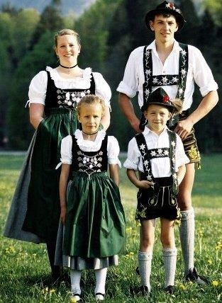 Национальная австрийская одежда царские шрифты