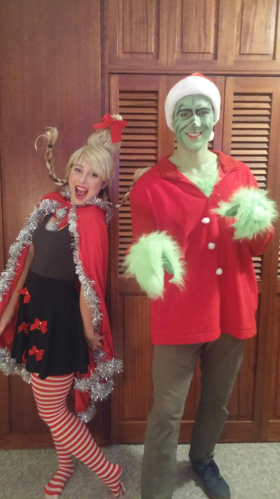 Cindy Lou Who and the Grinch DIY Halloween costume by
