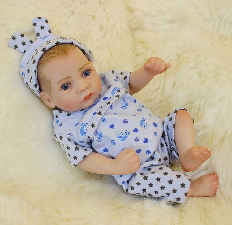 Pursuebaby 10inch 26cm Reborn Doll Alive Full Body Soft Vinyl Silicone Realistic Looking Baby Newborn Dolls Anatom Reborn Baby Dolls Reborn Babies Reborn Dolls