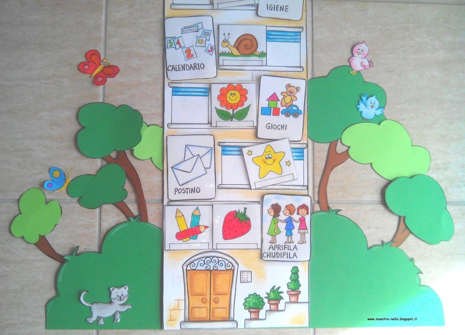 Disegni idee e lavoretti per la scuola dell 39 infanzia e for Maestra valentina accoglienza