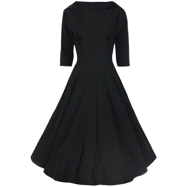 Lindy Bop Women's Marla' Jackie O 1950's 1960's 3/4 Sleeve D... - Polyvore