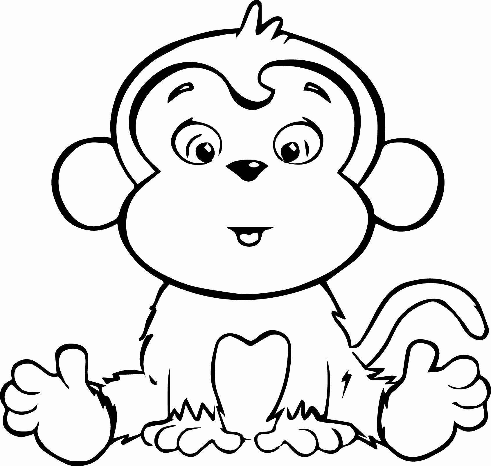 Printable Monkey Coloring Pages Unique Cute Baby Monkey Coloring Pages Printables Coloring Hom Monkey Coloring Pages Cartoon Coloring Pages Cute Coloring Pages