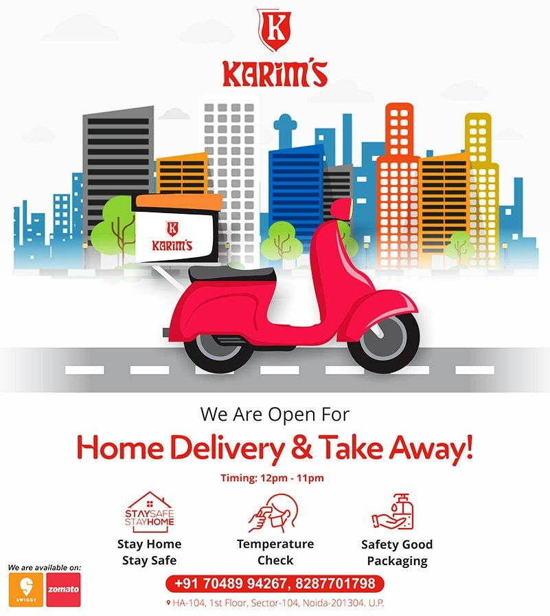 We Are Now Open For Home Delivery Take Away Karims Socialdistancing Hygienicfood Dining Food Hygienic Food Delivery Naan Roti