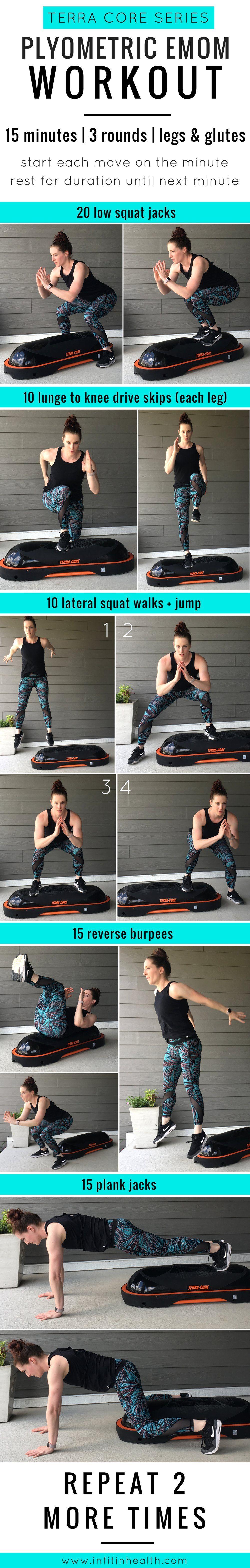 Terra Core Series 15 Minute Plyometric Emom Workout Emom Workout Aerobics Workout Hiit Workout
