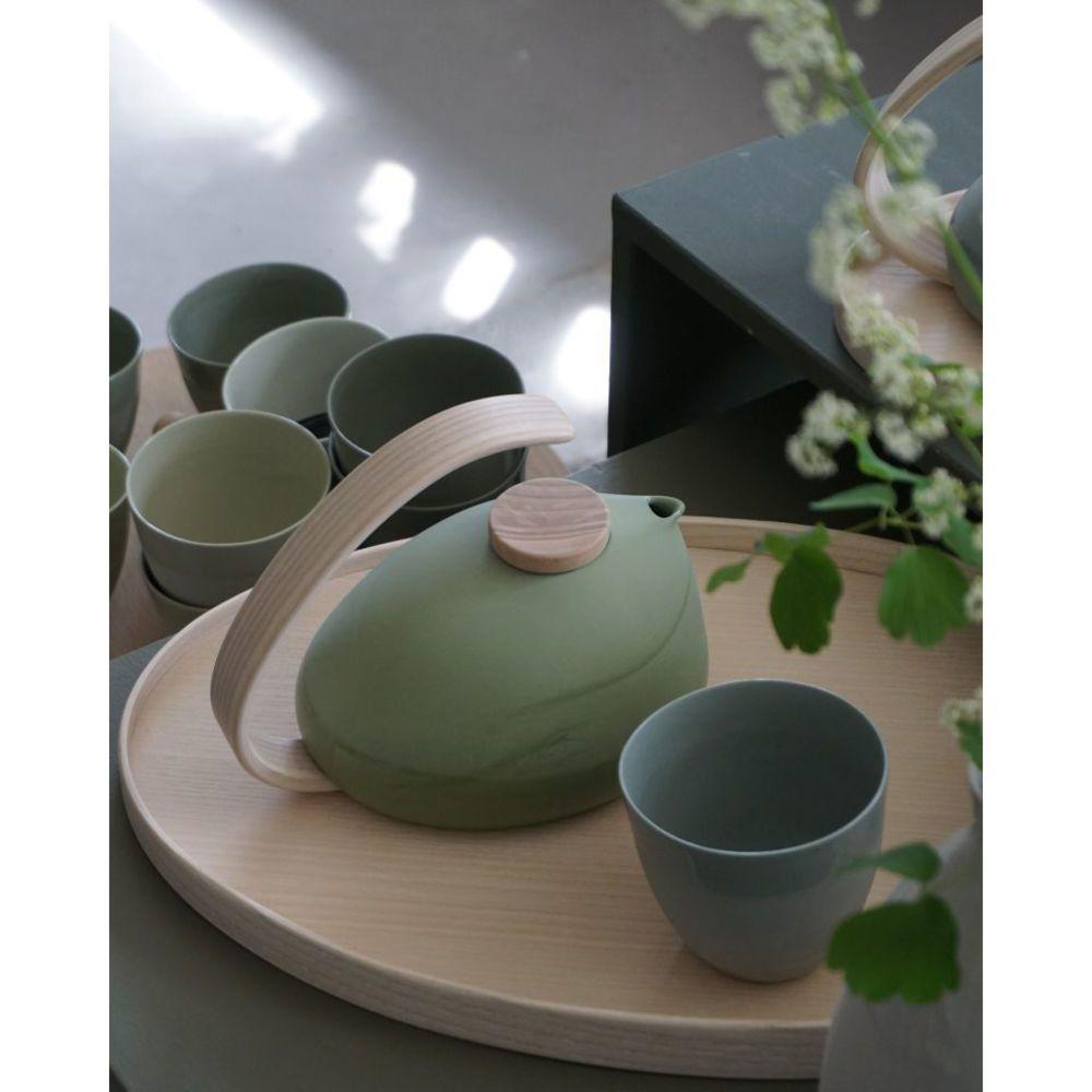 Pigeon Blue Krum Teacup Set Of 2 Delicate Yet Strong These Artisanal Porcelain Tea Cups From Renowned Co In 2020 Modern Tableware Tableware Design Luxury Tableware