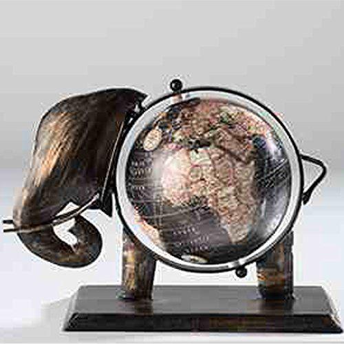 Fair trade decorative elephant globe vintage world map 20 x 10 x fair trade decorative elephant globe vintage world map 20 x 10 x 20cm black gumiabroncs Gallery