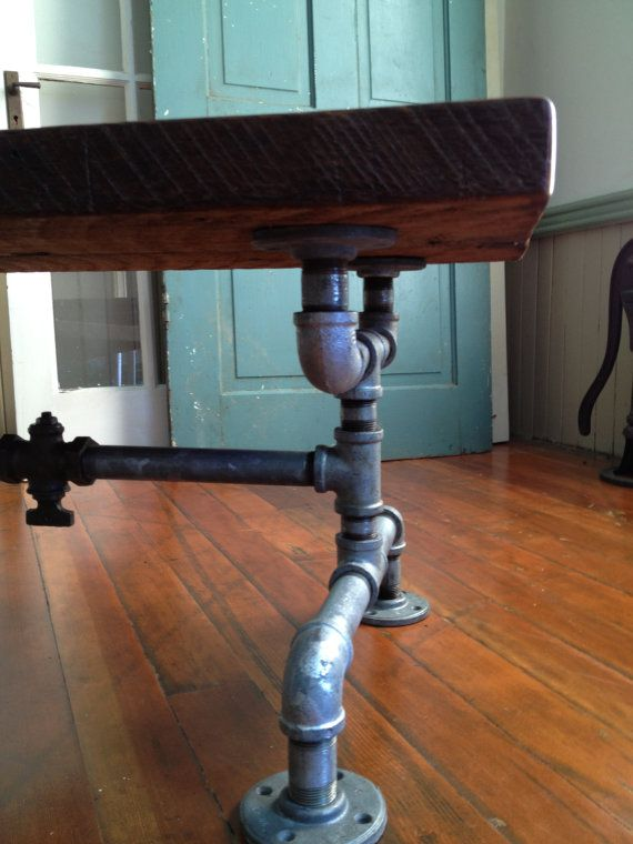 Coffee table, Reclaimed Barn Wood Table, Galvanized pipe ...