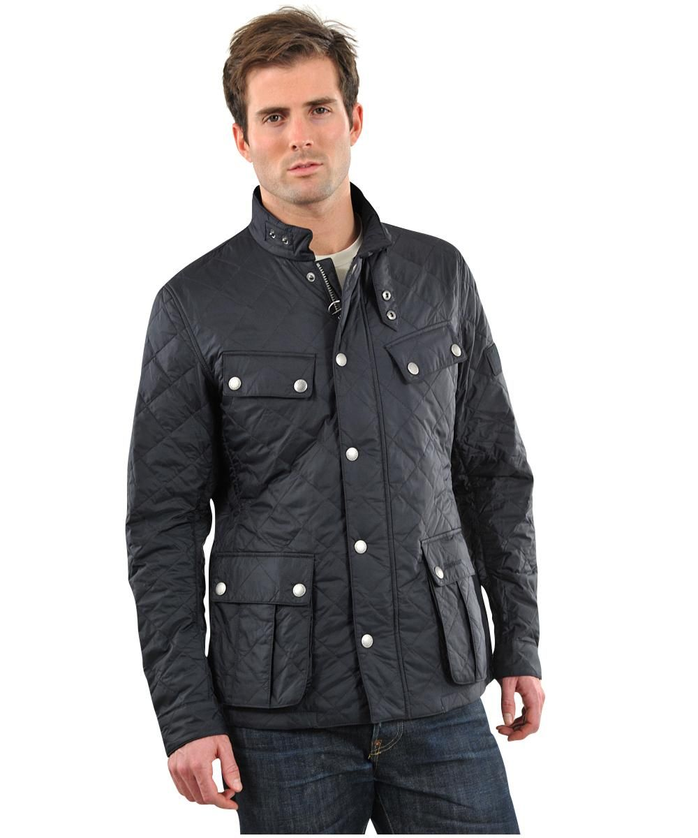 Barbour Mens Ariel Quilted Jacket ÿ Navy Black