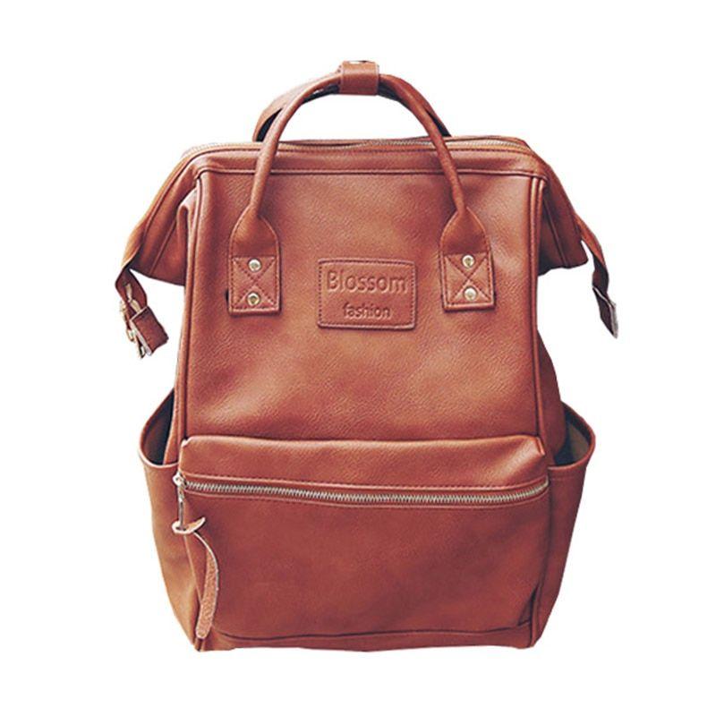 Mummy Diaper Backpacks Nappy Bag Large Capacity Baby Nursing Pu Leather Travel Backpack Leather Diaper Bags Diaper Bag Backpack Bags