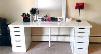 Ikea Linnmon Table Top With 2 Alex Drawers White Ikea Alex Desk Ikea Linnmon Table Top