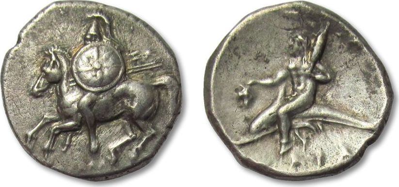 Griechenland (Antike) - Calabria, Tarentum. AR Didrachm