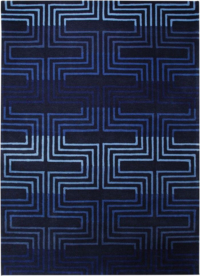 Teppich, Esprit, »Matrix«, blau Moderne Kurzflor Teppiche