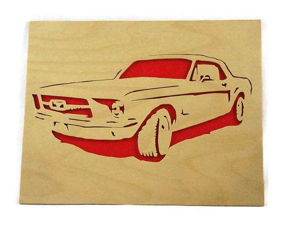 1965 Ford vintage Mustang Tenture murale Art fait à par KevsKrafts