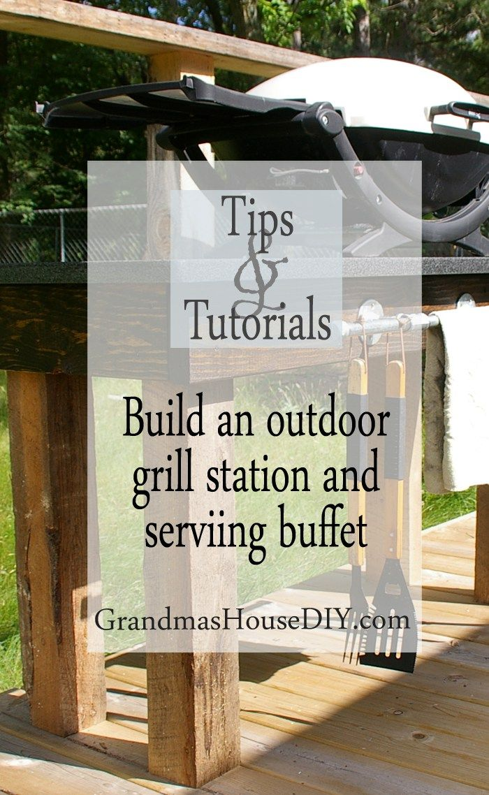 how to wood working tutorial an outdoor grill station and deck tutorial diy do…