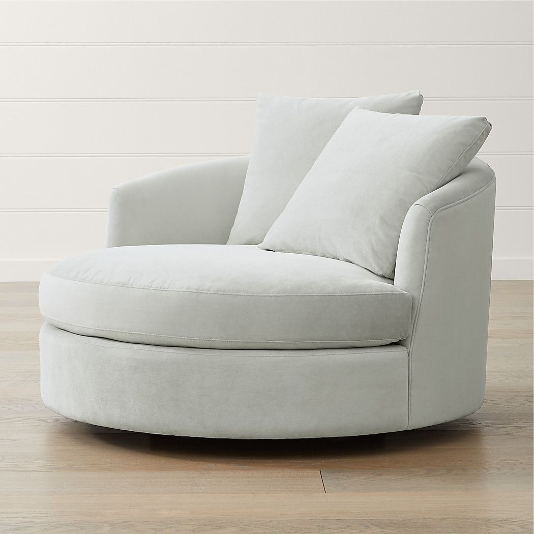 Tillie grande swivel chair reviews crate and barrel